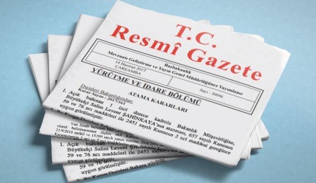 Cumhurbaşkanlığı atama kararnamesi resmi gazetede yayımlandı.,